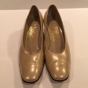 Salvatore Ferragamo block heel size 8.5AA